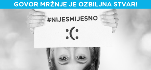 """Na Međunarodni dan mira započela kampanja protiv govora mržnje na Internetu """"Nije smiješno"""""""