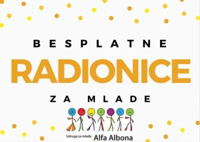 Besplatne radionice za mlade u Alfa Alboni