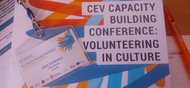 """Sudjelovanje na CEV Capacity – """"Volontiranje u kulturi"""""""