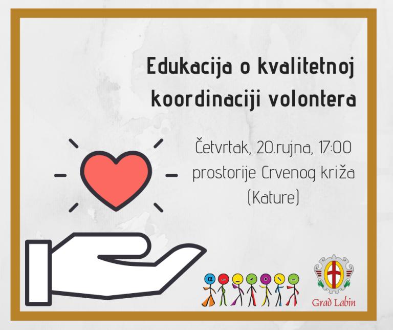Edukacija o kvalitetnoj koordinaciji volontera